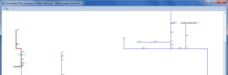 How to Create the Water Supply Network of a Building from an